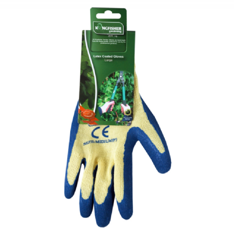 Latex Coated Garden Gloves - Kingfisher Gardening - Size Large